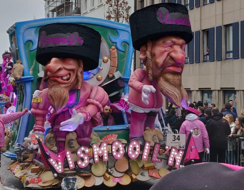 Stereotypen over Joden op 'praal' wagens in Aalst