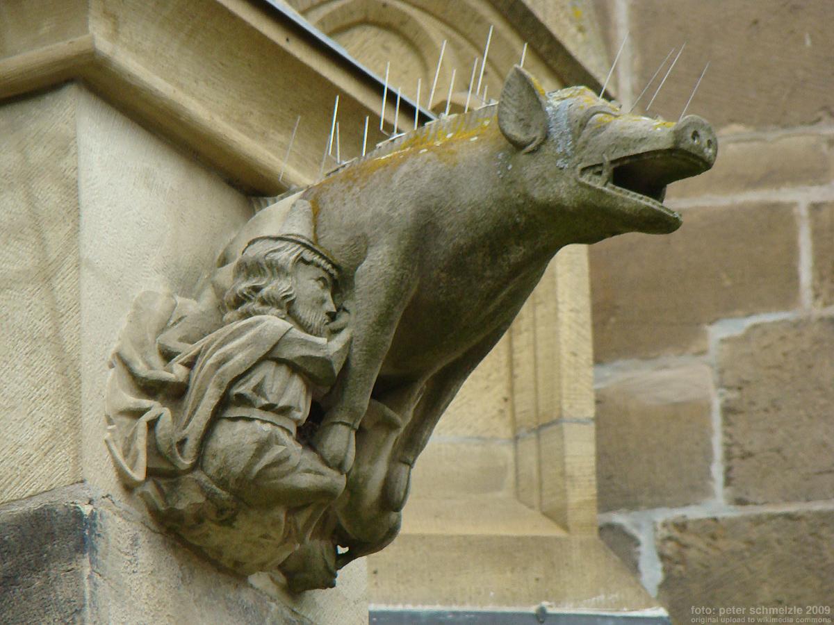 Antisemitisch beeld teruggeplaatst op kerkgebouw Duitsland